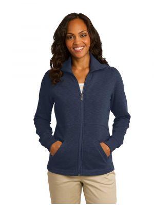 Port Authority Ladies Slub Fleece Full-Zip Jacket - L293